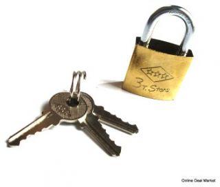 Padlock Pad Lock w 3 Keys Door Locker Luggage Bike Storage Shed