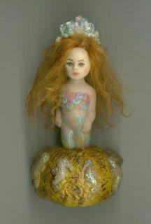 OOAK Mermaid Mini Art Sea Fairy Sculpt Oceana Biel