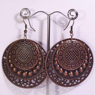 Large 2 Metal Big Hoop Fashion Earrings 5CJ