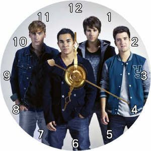 Brand New Big Time Rush Band BTR CD Clock