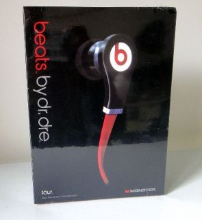 Red Black Monster Beats By Dr Dre Tour In Ear Headset Earbuds