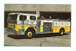 Binghamton NY 1975 Ward LaFerance Rescue Pumper Diesel Powered Fire
