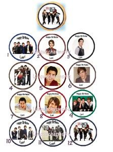 Big Time Rush Edible Cookie Cupcake Tops Party Decoration Birthday