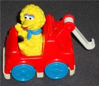 Tyco 1993 Vintage Sesame Street Big Bird Tow Truck Wheeled Toy