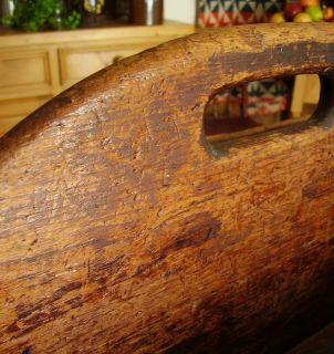 Antique Wooden Carrier Best Big Tote Long Pine Wood Box PRIMITIVE19THC