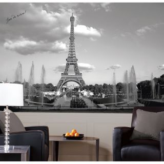 Country beach murals high window wallpaper mural for Black and white paris wall mural