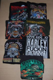 Vintage Soft Harley Davidson Bike Week T Shirts Long Sleeve XL