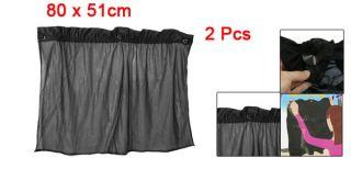 Pcs Suction Cup Black Mesh Window Curtains Car Sun Shade 80cm x 51cm