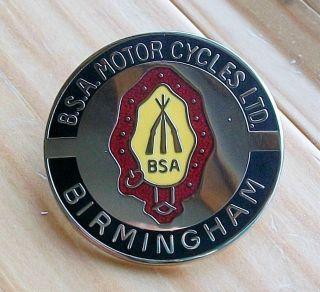 BSA Birmingham Pin Badge Biker Rocker Cafe Racer Motorcycle 59 Ton Up