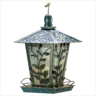 Birdfeeder Vine Covered Gazebo Metal Bird Seed Feeder