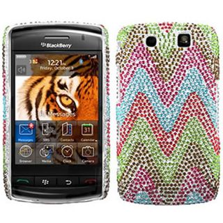 RAINBOW BLING RHINESTONE CASE COVER FOR BLACKBERRY STORM 2 9550