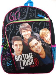 big time rush nickelodeon go 16 inch back to school backpack back pack