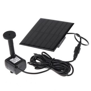 Solar Power Fountain Pond Water Pump Bird Bath Feature New