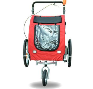 Bike Bicycle Trailer Dog Stroller Cat Carrier w Suspension Red