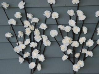 Lighted Flower 2 Stem Cream White Mini Rose 40 inches Tall Battery