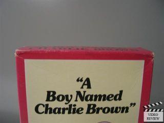 Boy Named Charlie Brown VHS Bill Melendez Charles Schulz