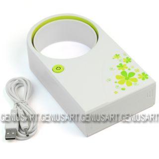 Mini Portable Bladeless Fan No Leaf Air Conditioner USB Cable Desktop