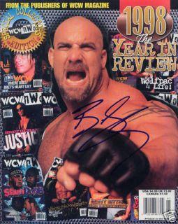 Bill Goldberg WCW WWE Signed Wrestling Magazine COA
