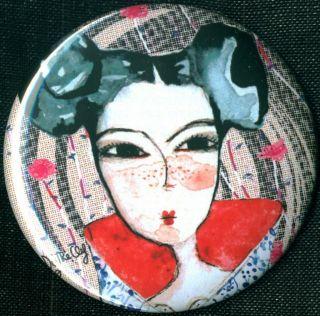Bjork do The Clef 1 Pin Button Badge Magnet Elektro Pop Street Art