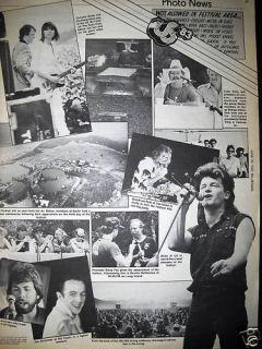 US Festival 1983 Collage Promo Ad Bono U2 Terri Nunn