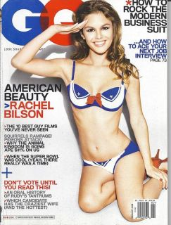 GQ Magazine Rachel Bilson Suits Jobs Super Bowl Cuban