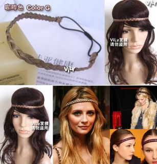 Wholesale 10 PC Braided Elastic Soft Hair Headband Wrap