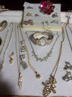 Estate Mixed Rhinestone Bling Jewelry All Wearable GJC140
