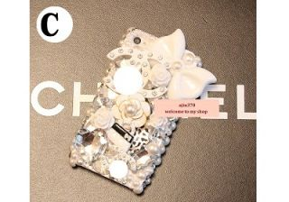3D Bling Bling Cute Stitch Doll Style DIY Cell Phone I Phone Case Deco