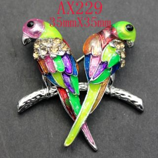 designs Rhinestone Crystal Enamel Bird Pin Brooch AX229