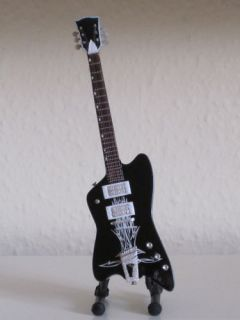 ZZ Top Billy Gibbons Black Reverse Jupiter Mini Guitar