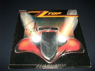 ZZ Top Billy Gibbons Signed Eliminator LP Album PSA