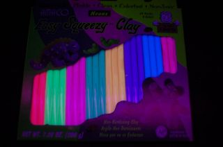 this blacklight reactive modeling clay is great for