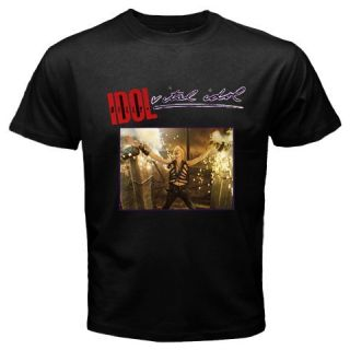 Billy Idol Vital Idol Black T Shirt Sz s 2XL