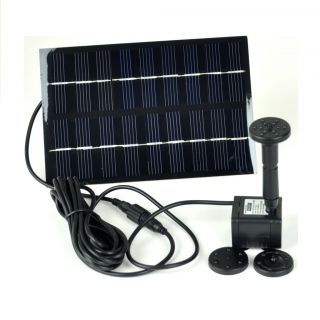 GYD 0018 Solar Panel Power Fountain Pond Water Pump Birdbath