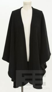 bloomingdales black merino wool knit large wrap