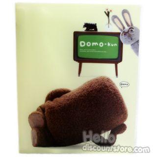 New Domo Kun 20 Pocket Binder School Supply Cream