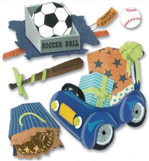 Jolees Little Boy Toy Birthday Party Gifts 3D Stickers