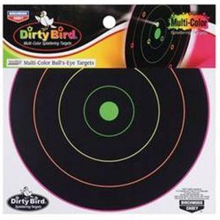 New Birchwood Casey Dirty Bird 12 Multi Color Bulls Eye Splatter