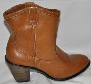 Style Co Blaise Brown Western Cowboy Style Ankle Boots Size 8M New