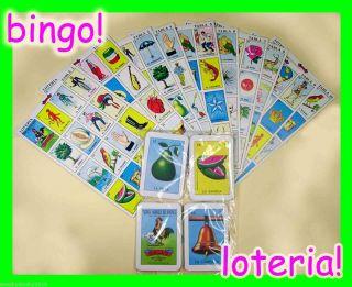 mexican la loteria bingo game 10 boards and 54 cards deck by Gallo Don
