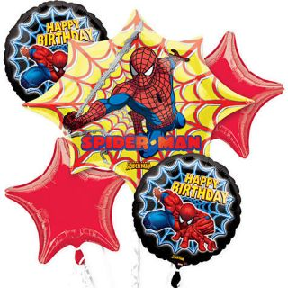 SPIDERMAN BIRTHDAY PARTY BALLOONS BOUQUET SUPPLIES DECORATIONS