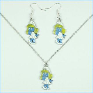 Charms Necklace Earring Set for Girls Birthday Party Gifts