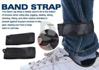 Cycling Bike Safety Bicycle Bind Pants Velcro Band Leg Strap