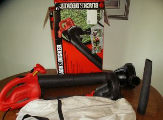 BLACK AND DECKER High Performance Leaf Blower Vacuum Mulcher With Bag