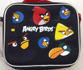 Angry Birds Red Space Rio Insulated Lunch Box Bag Container Sandwich