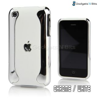 Stylish Silver Chrome Dual Hard Case Cover Bumper for Apple iPhone 3GS