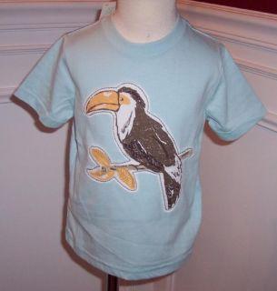 Janie Jack Toucan Island Bird Shirt Top Blue Boys New