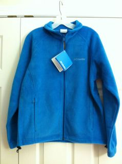 New Columbia Womens Sawyer Rapids Fleece Large 100 Polyester Blue