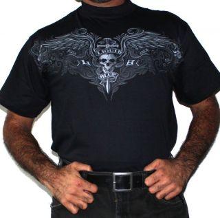Liquid Blue Rock Death Skull T Shirt Men Woman New