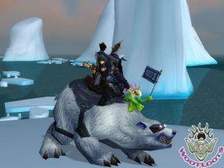 Blizzcon Card Big Blizzard Polar Bear Murloc Flag World of Warcraft